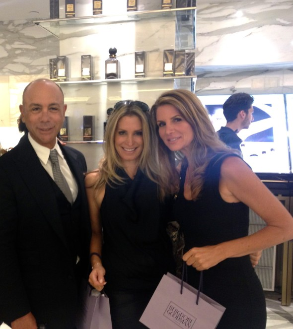 Us with the fabulous Clif at the Tom Ford makeup counter at Bergdorf's.