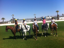 Riding the polo ponies