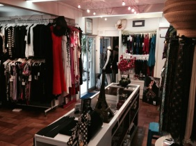 This little boutique is packed with high fashion