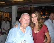 Sandy and long time St Barth resident Georges Greaux at the Do Brazil party.
