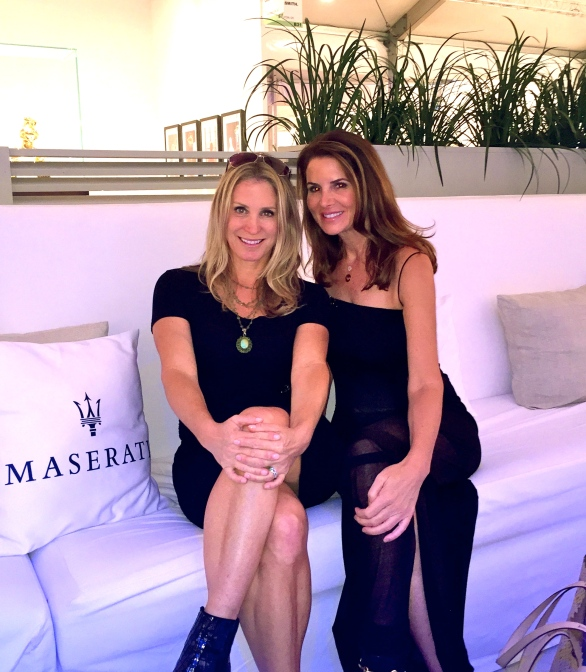 Taking a breather in the Maserati Lounge at Art Miami.