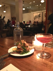 Cocktails and artichokes at Locanda. All is good in the world.