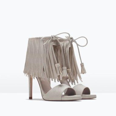Fringe Heels $99.90 at Zara