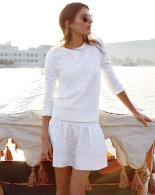 Aimee would approve of Cameron Russell's all white for J Crew ensemble