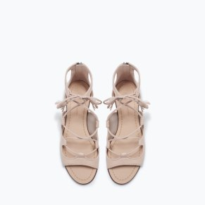 Leather Roman Sandal 69.90 at Zara