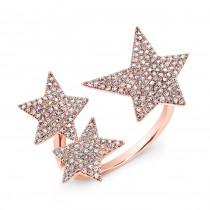 Rose Gold Triple Star Ring