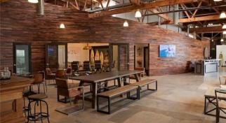 Fancy new office space at the World Surf League headquarters in Santa Monica.