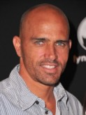 No hair necessary when you're surf god Kelly Slater. Keeping it casual at the Santa Barbara Film Festival.
