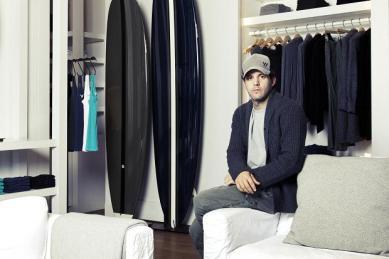 James Perse in his namesake store in Malibu