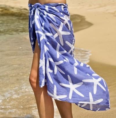 Blue Starfish Sarong