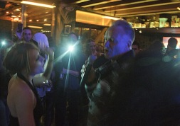 Sting, a karaoke act we don't want to follow.