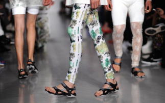 Mandals on the runway…quite unsettling.