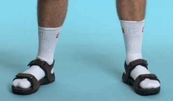 Mandals and socks, a lethal combination.