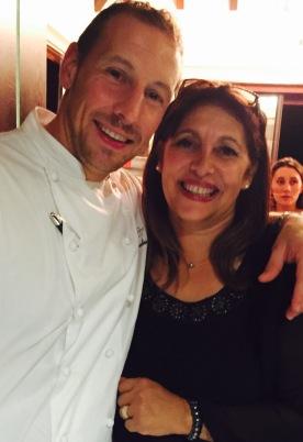 Eden Rock chef Eric Desbordes with party planner extraordinaire Reine-May