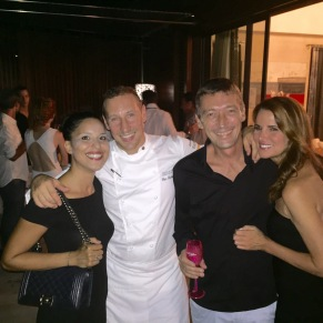 Chef Eric Desbordes and the ever stylish Mr and Mrs David Mouton of Do Brazil