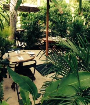 Romantic garden seating