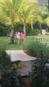 Kids enjoying the garden