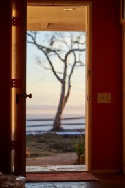 Ready to face the world! Looking out from inside Surya Spa.