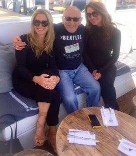 The Fab Three. (Us with Ivor Davis).