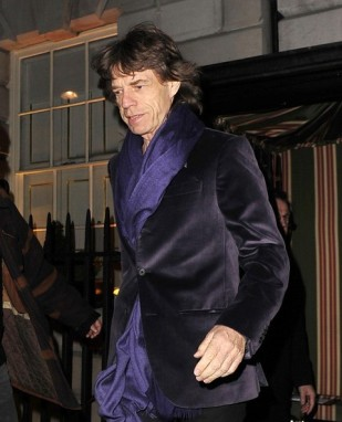 Mick has been rocking the velvet for decades.