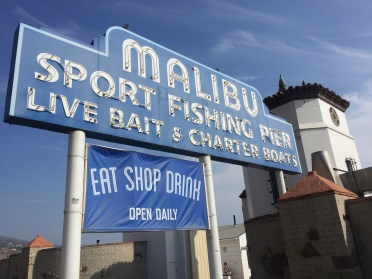 The iconic Malibu Pier.